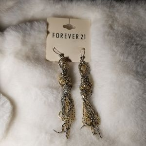 Forever 21 two-tone earrings